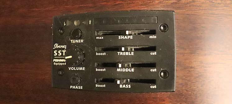 Темброблок электроакустической гитары Ibanez со встроенным тюнером