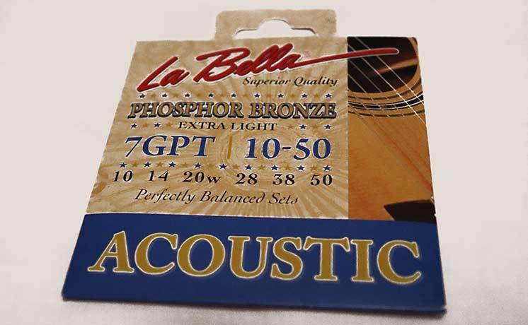 Бронзовые струны La Bella для акустической гитары