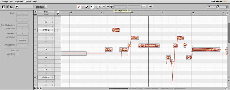Пример использования тюнинга для голоса в программе Melodyne