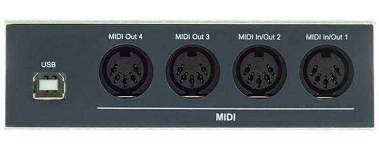 На фото: интерфейс MIDI